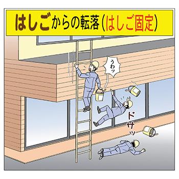 A-9.はしごからの転落(はしご固定)うわっ
