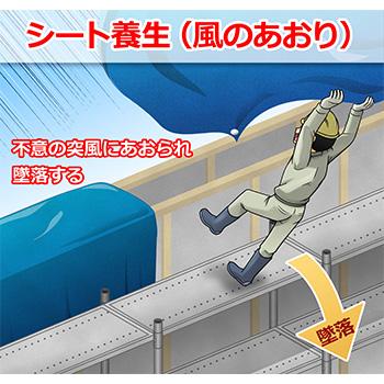 A-12.シート養生(風のあおり)