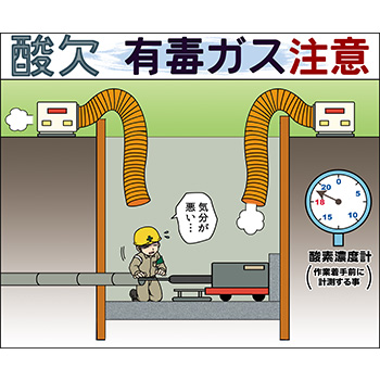 G-2.酸欠・有毒ガス注意(矢板)