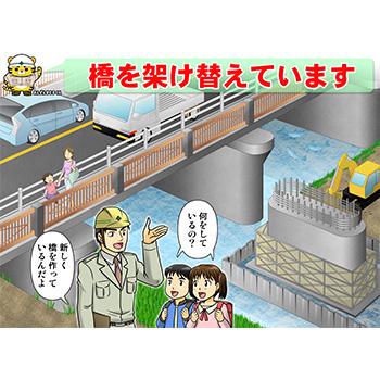 B-12 橋を架け替えています